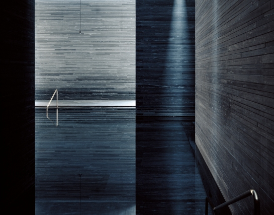Hélène Binet, Therme Vals, Switzerland, 1996. Architect: Peter Zumthor.