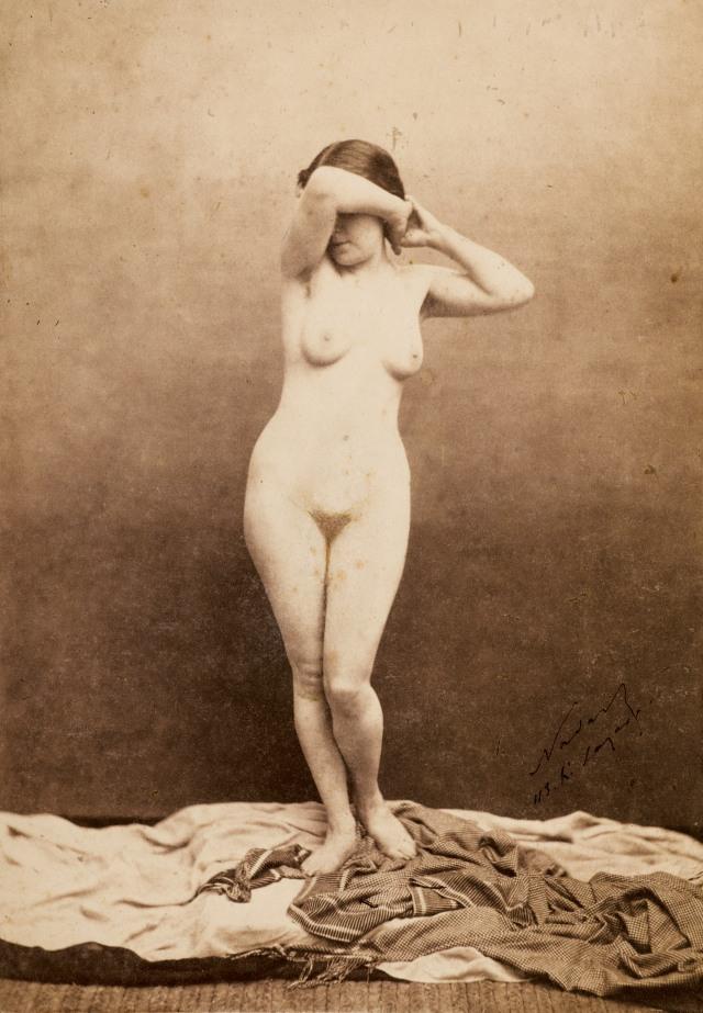 Mariette, by Félix Nadar (Gaspard Félix Tournachon, 1820-1910) , c. 1855. Salted paper print from a glass plate negative (210 x 147 mm), Wilson Centre for Photography.